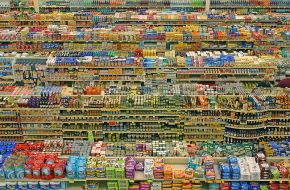 An overhead view of the typical supermarket.